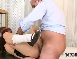 Elegant college girl is seduced and drilled by her older teacher