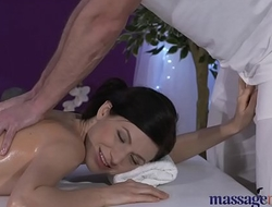 Massage Rooms Petite partition with hairy pussy has intense multiple orgasms