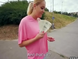 Public Pickups - Amateur Euro Slut Seduces Newcomer For Money 27