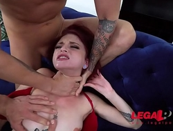 EXTREMELY HORNY Micro Teen Bitch Lola Fae 1st Double Penetration