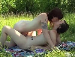 Yanks Lesbians Turquoise And Artemis Masturbating Outdoors