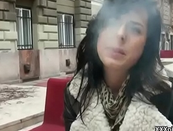 Public Locate Sucking In Europe With Sexy Dabbler Teen 11