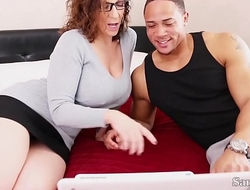 Busty Tutor Sara Jay Fucks Her Big Dick Student be fitting of Extra Credit!