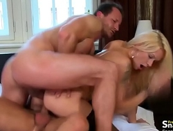 Stunning blonde MILF gets DP'_ed
