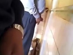 Blowjob in public toilet