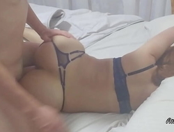Amalia Eager:  My big booty girlfriend moans deliciously while having an orgasm riding my cock