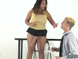 Sweeties fuck studs anal gap with oversized strap-ons and splatter sperm