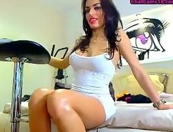 sexy latina shows off boobs