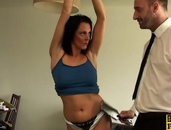 Facefucked mature britt gaggs on the brush bigtits