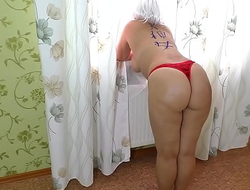 Mom got on her knees and allowed her stepson forth fuck her ass in anal