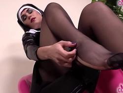 Sexy nurse and horny nun drive you crazy with their feet