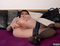 Unusual czech chick opens up her tight crack to the extreme