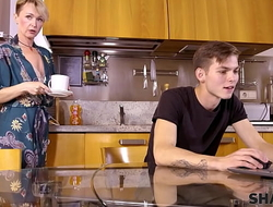 SHAME4K. Matured blonde didnt expect her plc son to be so pervy