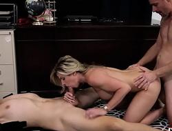 Hot milf vs Mafia Boss - Threesome - Cory Track