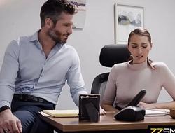 cute secretary banged hard by narcissistic boss