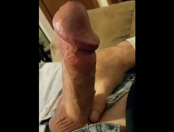 Solo male heavy cock soft to hard two cumshots
