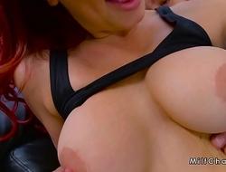 Guy bangs huge tits Milf in leggings