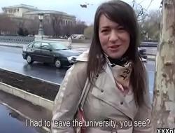 Public Pickups - Teen Amateur Euro Babe Seduces Tourist For Blowjob 04