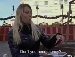 Public Pickups - Teen Amateur Euro Infant Seduces Tourist For Blowjob 01