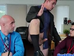 Spex office stud sucks while riding cock