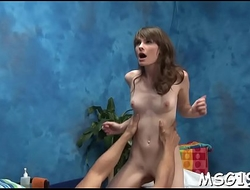 Lusty beauty gets huge facial