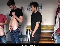 Young Amateur Latino Boys Orgy While Cruising At Bar