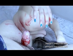 Halloween Bloody Anal Creampie for Young Horny Girl - Maky Aline