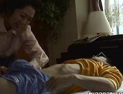 Mature japanese honey enchanting her young boyfriend