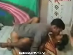 South indian servant maid drilled by the brush owner i...