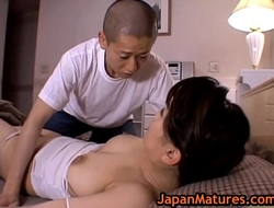 Miki sato and young chap - wake up (part three of 9)