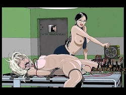 Sexiest cartoon porn game with tied alongside slaves will make you cum multiple times
