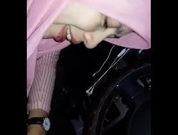 Fiza awek bank islam lancap batang balak dalam kereta
