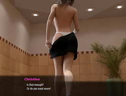 4 - Fashion Business - part 4 - Sexy bitch Christine get naked in fuel station