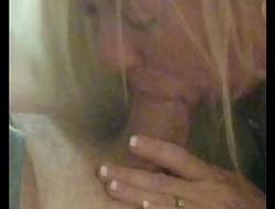 PhatAssBlonde sucking and fucking stranger while husband watches