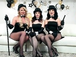 Three horny pornstars getting their fuck holes hammered