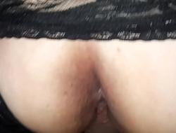 Dispirited milf, taken backshots in her panties