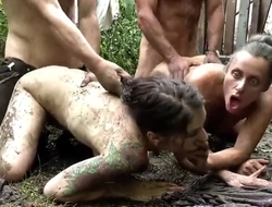 Filthy family - dirty family orgy in the mud