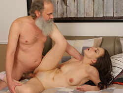 Sweet brunette comes to pass the test but, when she fails, she needs to think out another way of doing it. Luckily she is hot enough to seduce her old teacher into making wild sex.