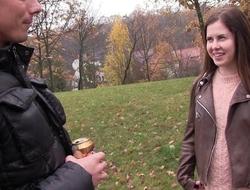 Russian starlet regarding natural tits sucks big juicy cock