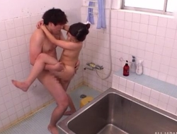 Exciting Asian lady takes a nice shower before getting fucked