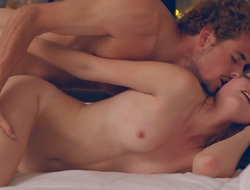 Horny redhead Miley Cole sucks her guys dick in a deep throat BJ then takes a hardcore doggy style pussy pounding