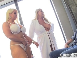 Adult movie star Alura Jenson has a triple apropos Karen Fisher