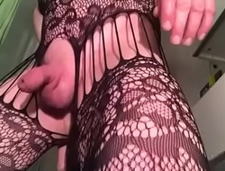 Crossdresser keeps cumming while getting  his prostate fucked
