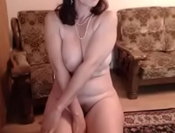 hot 48 yo russian matured maria play in the matter of skype