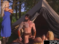 Playfully Thrones XXX - Nobles Peta Jensen and Say no down Handmaiden Aruba Jasmine Drilled