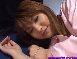 Asumi Mizuno horny Asian schoolgirl sucks dick and gets pussy banged hard