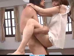 Subtitles - Japanese model Maomi Nagasawa enjoys in threesome