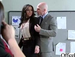 (stephani moretti) Sexy Busty Office Girl Bang Hardcore Style video-30