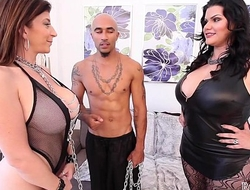 King Noire and Angelina Castro Busty Sara Jay BBW THREESOME