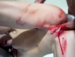 Small-tits teen gets bloody-banged away from her boyfriend
